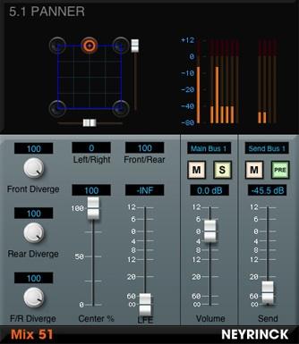 surround mixing in protools - Neyrinck Mix 51 plugin